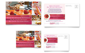 Corporate Event Planner & Caterer - Postcard