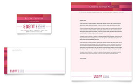 Corporate Event Planner & Caterer - Business Card & Letterhead Template Design Sample