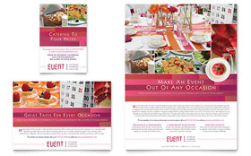Corporate Event Planner & Caterer - Flyer & Ad Template Design Sample