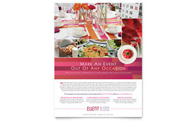 Corporate Event Planner & Caterer - Flyer Template