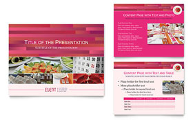 Corporate Event Planner & Caterer - Microsoft PowerPoint Template
