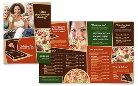 Pizza Pizzeria Restaurant - Menu Template Design Sample