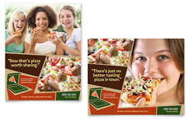 Pizza Pizzeria Restaurant - Poster Template Design Sample