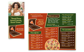 Pizza Pizzeria Restaurant - Take-out Brochure Template Design Sample