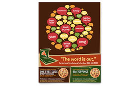 Pizza Pizzeria Restaurant - Flyer Template