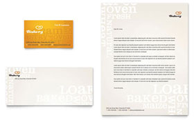 Artisan Bakery - Business Card & Letterhead Template Design Sample