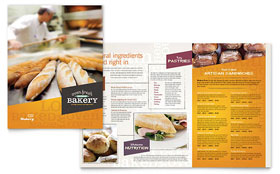 Artisan Bakery - Apple iWork Pages Menu Template