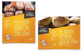 Artisan Bakery - Poster Template Design Sample