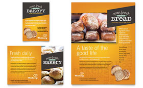 Artisan Bakery - Flyer & Ad Template Design Sample