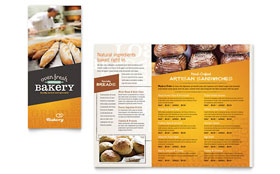 Artisan Bakery - Take-out Brochure Template Design Sample