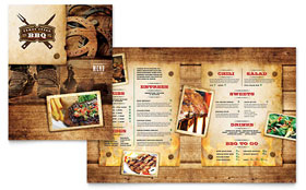 Steakhouse BBQ Restaurant - Menu Template Design Sample