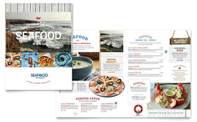 Seafood Restaurant - QuarkXPress Menu Template