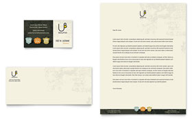 Brewery & Brew Pub - Business Card & Letterhead Template Design Sample
