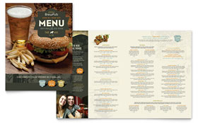 Brewery & Brew Pub - Microsoft Publisher Menu Template
