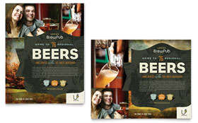Brewery & Brew Pub - Poster Template