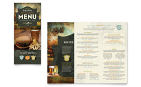 Brewery & Brew Pub - Take-out Brochure Template Design Sample