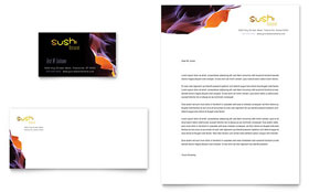 Sushi Restaurant - Business Card & Letterhead Template