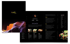Sushi Restaurant - Menu Template Design Sample