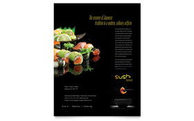 Sushi Restaurant - Flyer Template