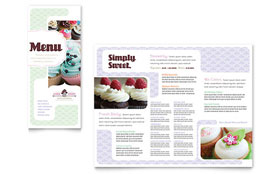 Bakery & Cupcake Shop - Menu Template Design Sample