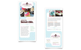 Bakery & Cupcake Shop - Rack Card Template Design Sample