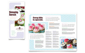 Bakery & Cupcake Shop - Pamphlet Template