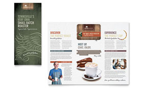 Coffee Shop - Brochure Template Design Sample
