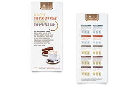 Coffee Shop - Rack Card Sample Template