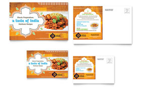 Indian Restaurant - Postcard Template