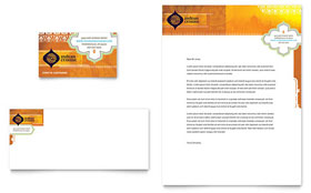 Indian Restaurant - Business Card & Letterhead Template Design Sample