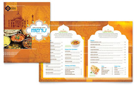 Indian Restaurant - Menu - Adobe InDesign Template Design Sample