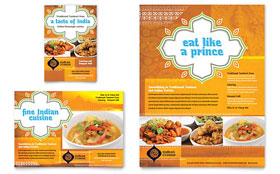 Indian Restaurant - Leaflet Template Design Sample