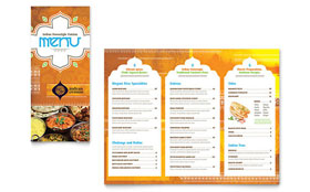 Indian Restaurant - Take-out Brochure Template Design Sample