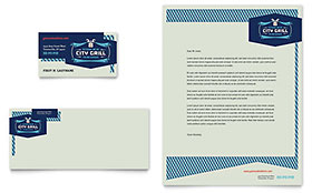 Fine Dining Restaurant - Business Card & Letterhead Template