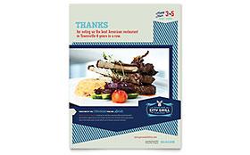 Fine Dining Restaurant - Flyer Template