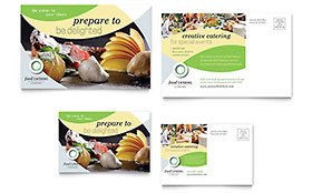 Food Catering - Postcard Template