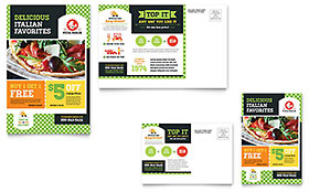Pizza Parlor - Postcard Sample Template