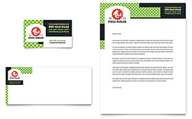 Pizza Parlor - Business Card & Letterhead Template
