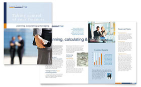 Financial Planning & Consulting - Apple iWork Pages Brochure