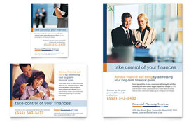 Financial Planning & Consulting - Flyer & Ad Template Design Sample