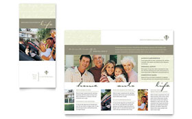 Life & Auto Insurance Company - Adobe Illustrator Brochure Template