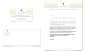 Life & Auto Insurance Company - Business Card & Letterhead Template