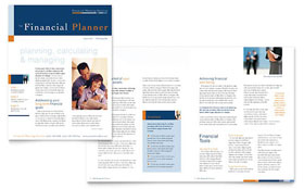 Financial Planning & Consulting - Newsletter Template Design Sample