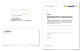 Financial Planning & Consulting - Business Card & Letterhead Template