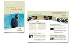 Investment Management - Brochure Template Design Sample