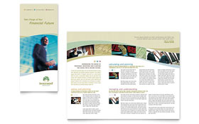 Investment Management - Tri Fold Brochure Template Design Sample
