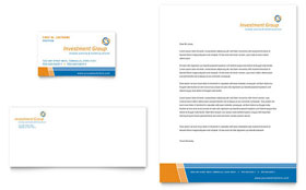 Investment Services - Business Card & Letterhead Template