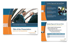 Investment Services - Microsoft PowerPoint Template