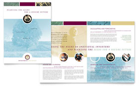 Financial Planning & Consulting - Brochure Template