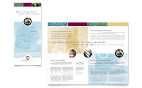 Financial Planning & Consulting - Business Marketing Tri Fold Brochure Template